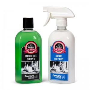 Feather Mite Treatment Spray & Shampoo Combo